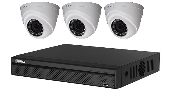 Dahua 4MP HD CCTV Package with 3 cameras
