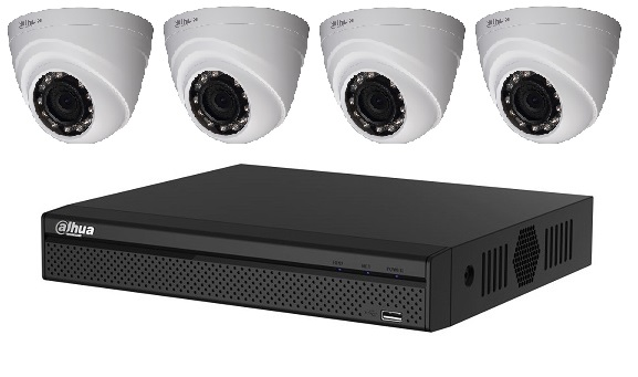 Dahua 4MP HD CCTV Package with 4 cameras