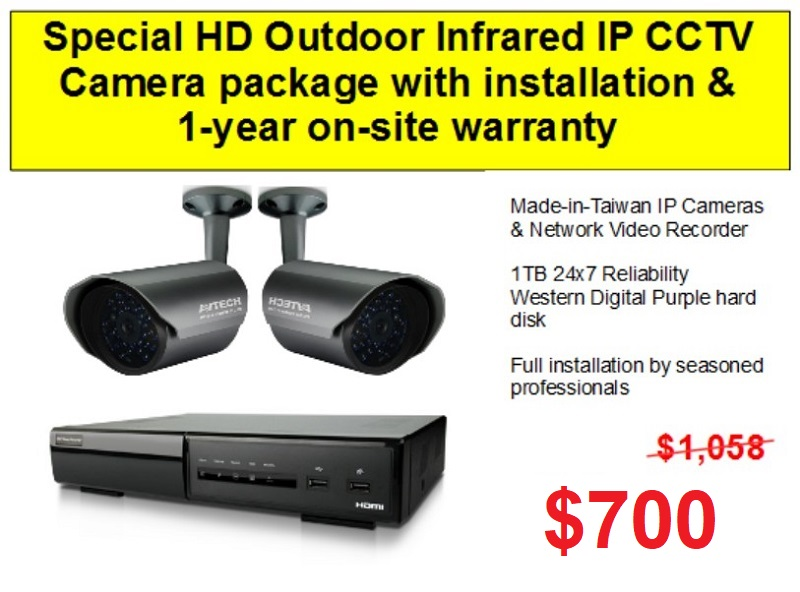 IP HD CCTV Camera Singapore Promotion Package with Network Video Recorder1