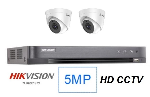 Hikvision 5MP Singapore 2 CCTV cameras package