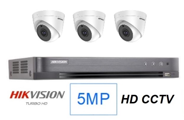 Hikvision 5MP Singapore 3 CCTV cameras package