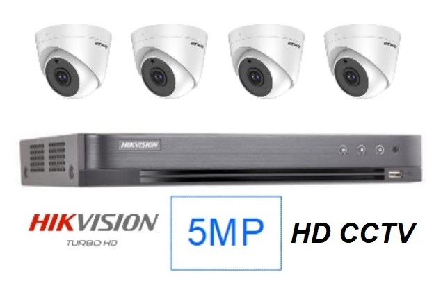 Hikvision 5MP Singapore 4 CCTV cameras package