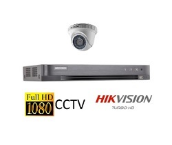 Hikvision Full HD CCTV Camera System with CCTV 4-Channel Digital Video Recorder
