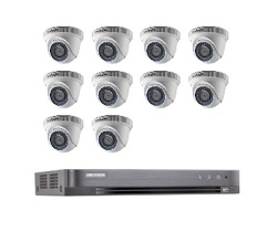 Hikvision Full HD CCTV 10 Cameras System with CCTV 16-Channel Digital Video Recorder