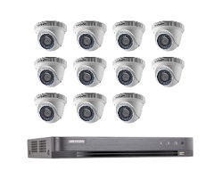 Hikvision Full HD CCTV 11 Cameras System with CCTV 16-Channel Digital Video Recorder