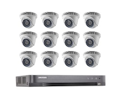 Hikvision Full HD CCTV 12 Cameras System with CCTV 16-Channel Digital Video Recorder