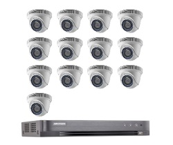 Hikvision Full HD CCTV 13 Cameras System with CCTV 16-Channel Digital Video Recorder
