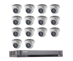 Hikvision Full HD CCTV 14 Cameras System with CCTV 16-Channel Digital Video Recorder