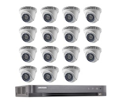 Hikvision Full HD CCTV 15 Cameras System with CCTV 16-Channel Digital Video Recorder