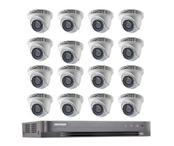 Hikvision Full HD CCTV Camera System with CCTV 16-Channel Digital Video Recorder
