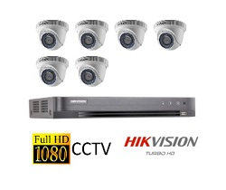 Hikvision Full HD CCTV 6 Cameras System with CCTV 8-Channel Digital Video Recorder