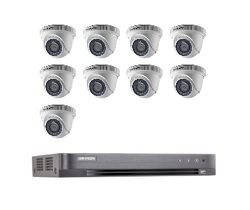 Hikvision Full HD CCTV 9 Cameras System with CCTV 16-Channel Digital Video Recorder