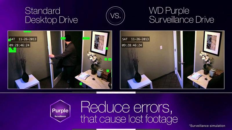 CCTV hard disk from Western Digital Purple