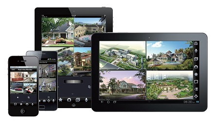 HD CCTV over Ipad, Iphone, Android smartphone and computers