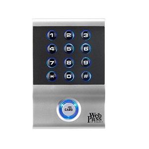 Webpass IP door access card PIN reader