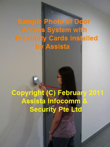 Door Access System 2 with Proximity Cards in Singapore