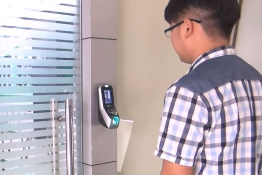 face recognition fingerprint door access control system singapore product demonstration
